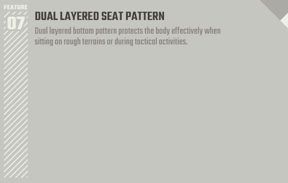 DUAL LAYERED SEAT PATTERN
