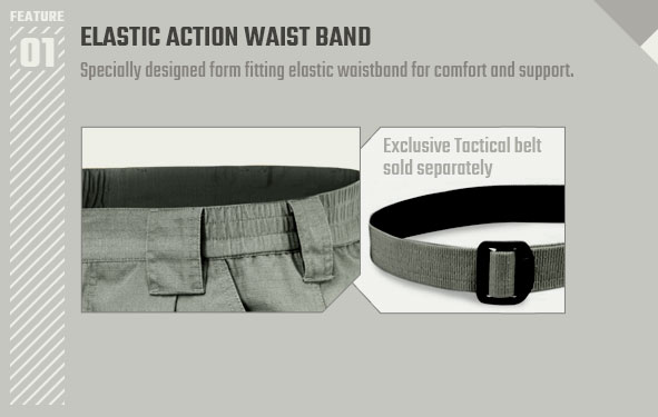 ELASTIC ACTION WAIST BAND